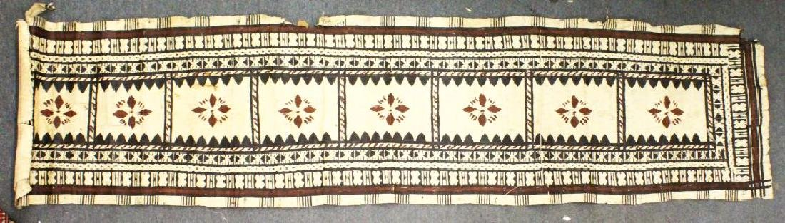 A FINE FIJIAN MASI, TAPA, 19TH/20TH CENTURY BARK CLOTH,