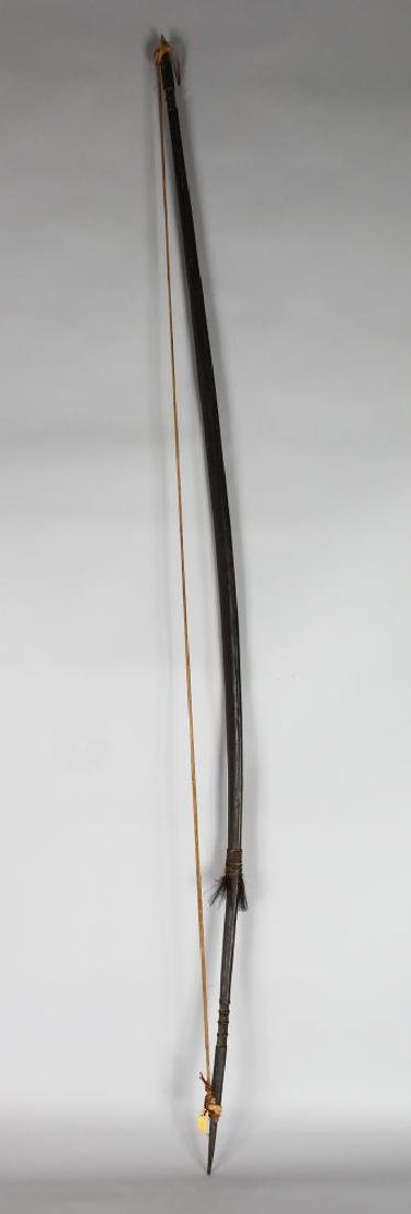 PAPUA NEW GUINEA BOW.  Carved wood and bamboo,