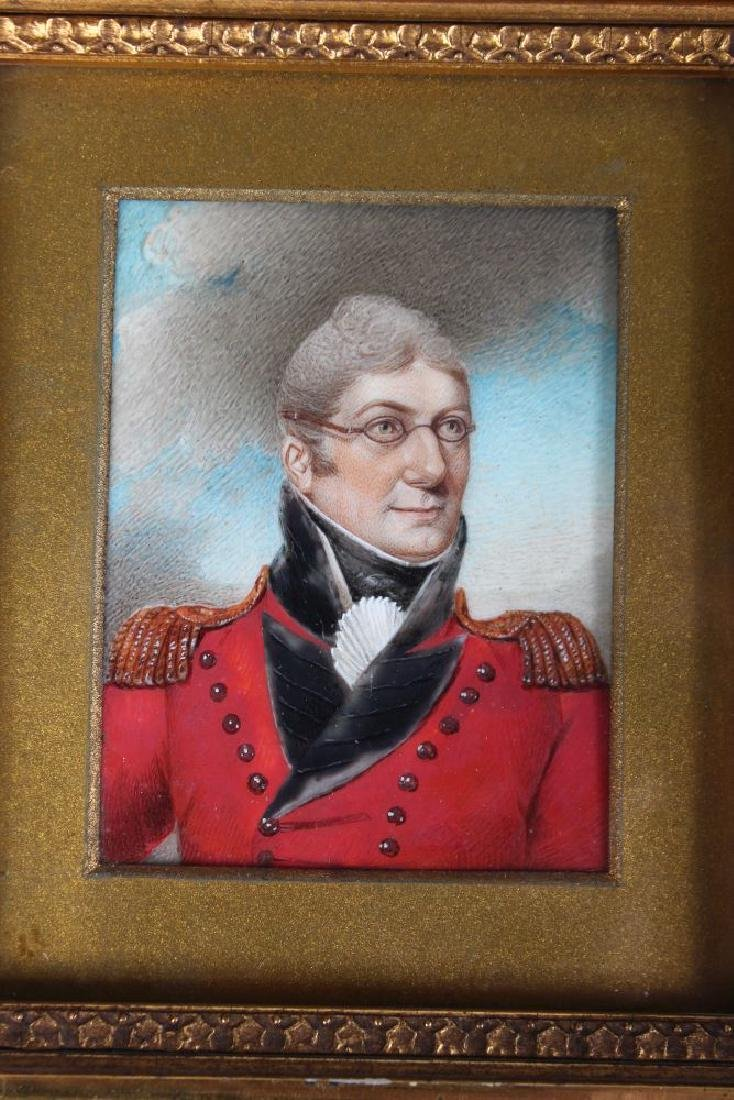 A PAIR OF GILT FRAMED PORTRAIT OF COLONEL GREENTREE AND - 2