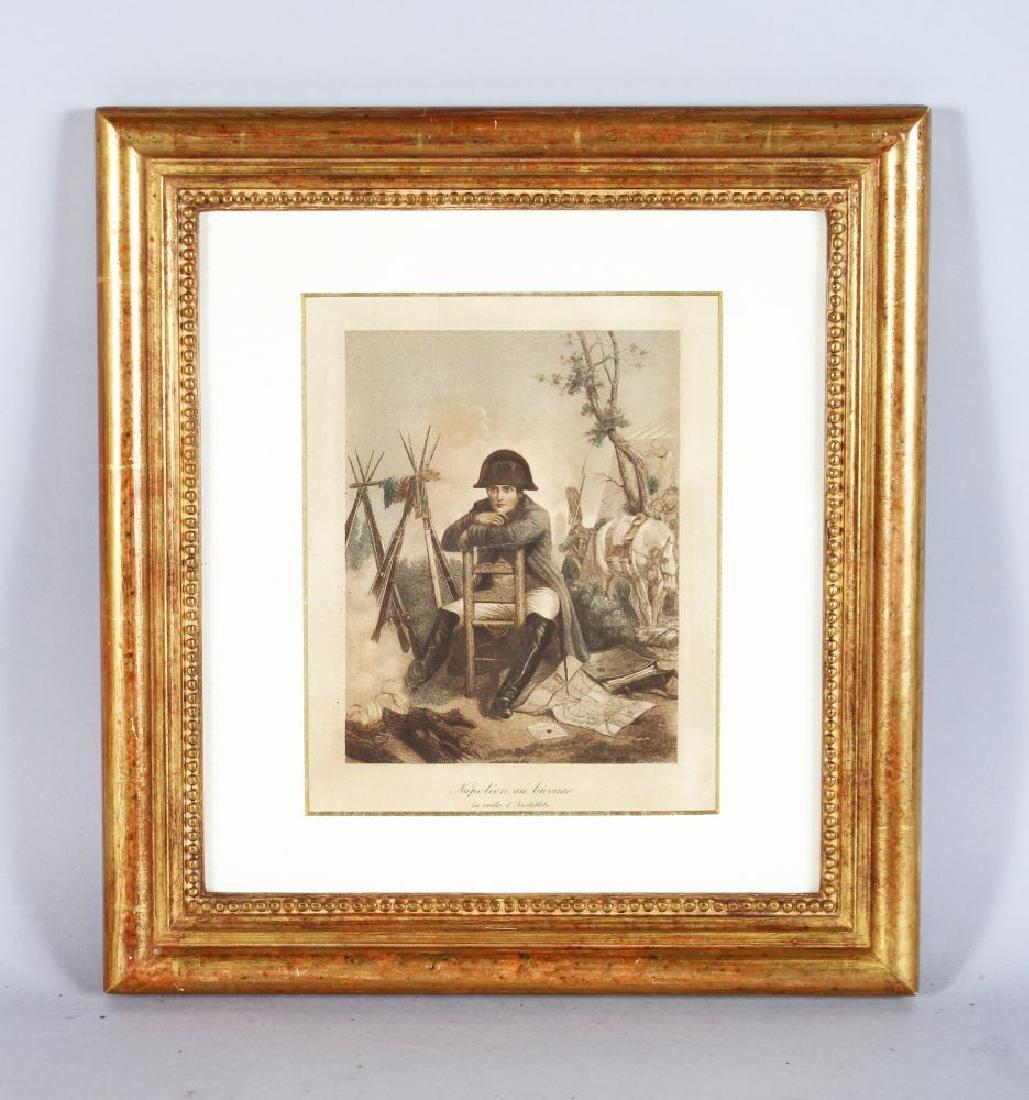 """AN ENGRAVING OF NAPOLEON BONAPART """"Napoleon au Bivouac"""""""