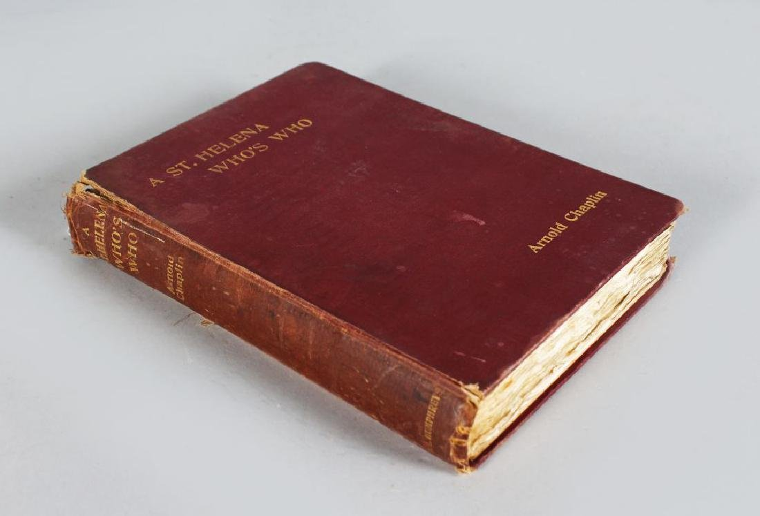 ARNOLD CHAPLIN, A ST. HELENA'S WHO'S WHO, published