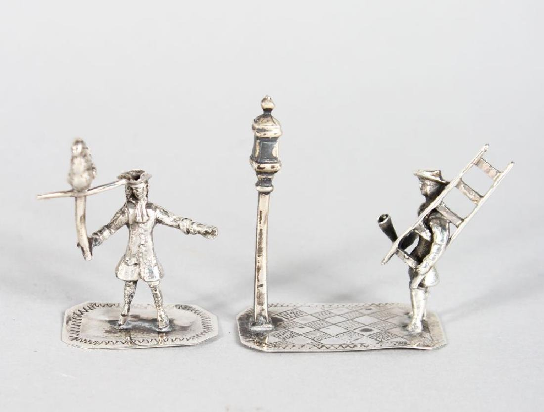 TWO DUTCH SILVER MINIATURES