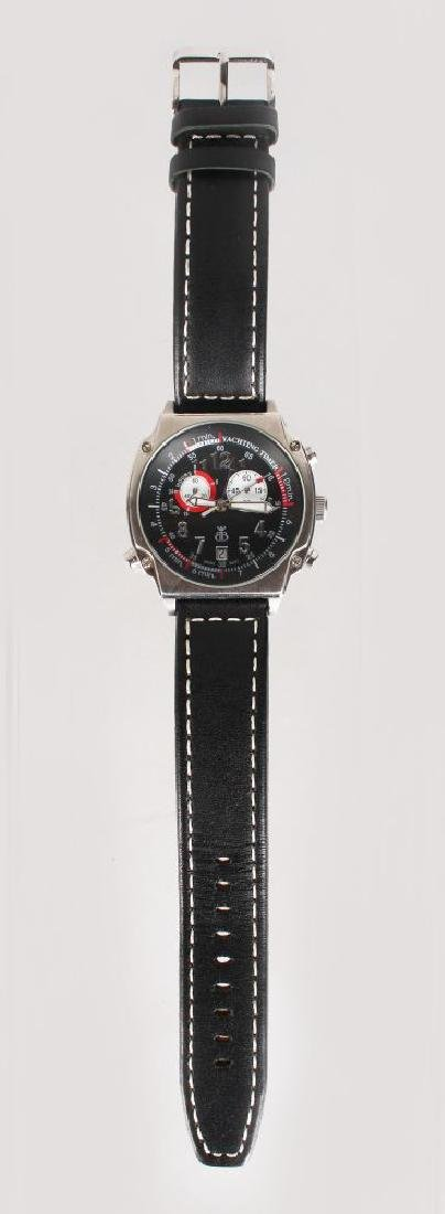 A YACHTING WATCH, with leather strap - 2