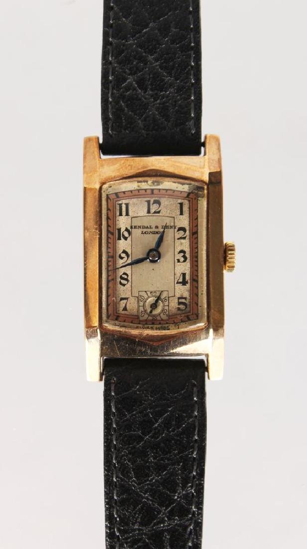 A KENDAL & DENT LADIES 1950 GOLD WRIST WATCH, with