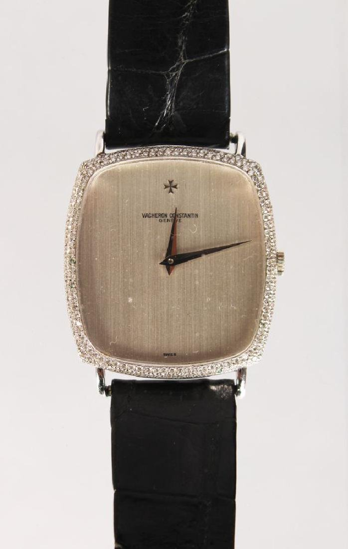 A VACHERON & CONSTANTINE 18ct WHITE GOLD AND DIAMOND
