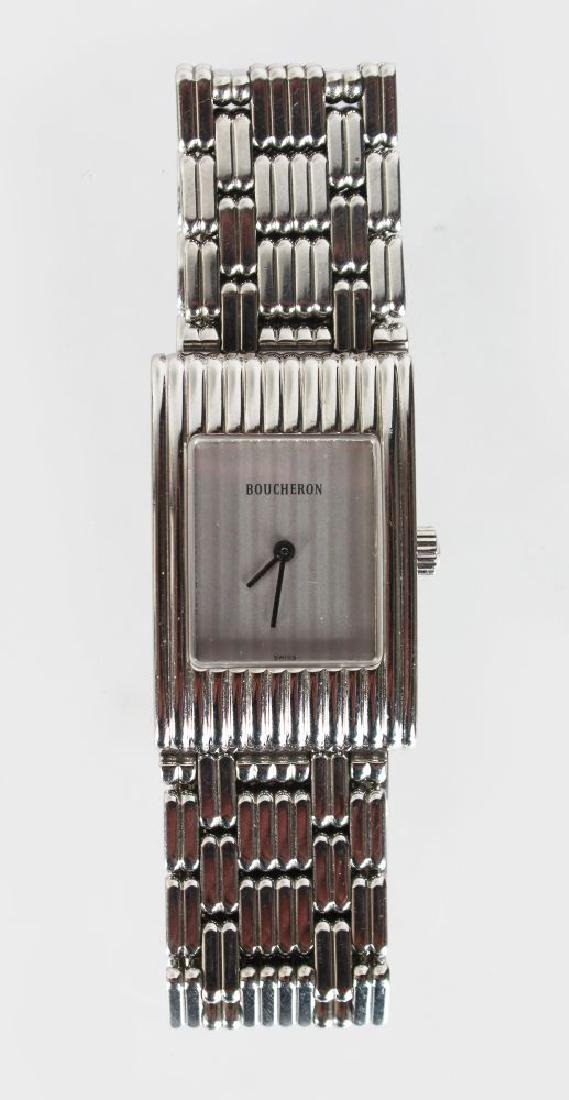 A BOUCHERON WRIST WATCH, No: AK416582, with bracelet