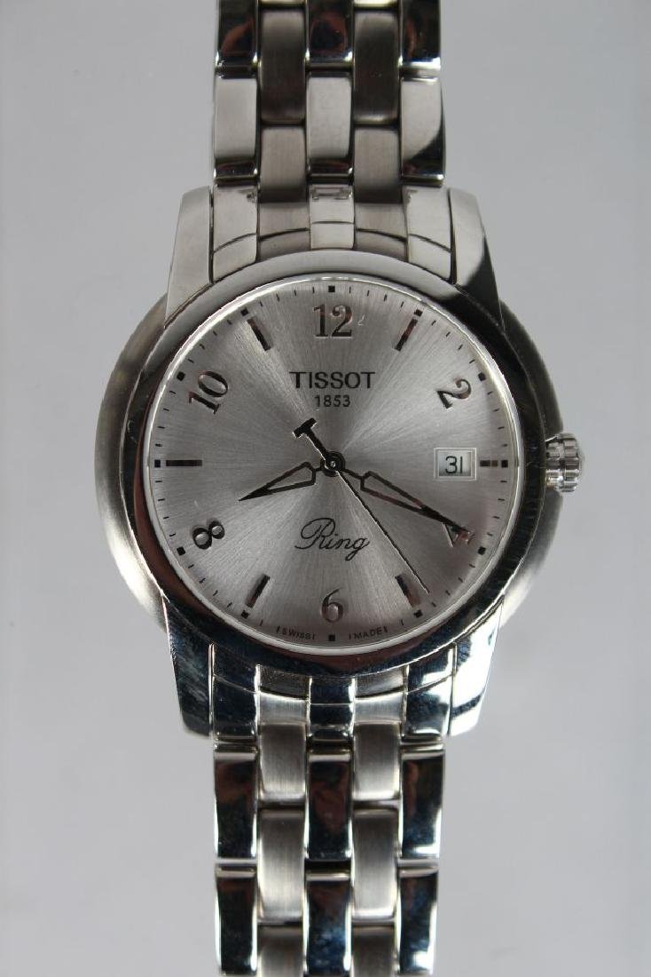 A TISSOT STAINLESS WRIST WATCH, with bracelet strap - 2
