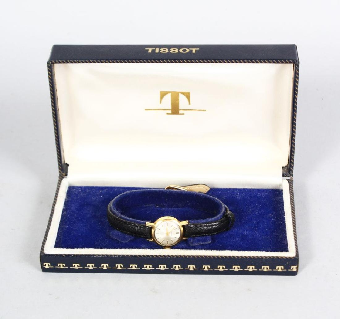 TISSOT, ladies watch with leather strap in original box