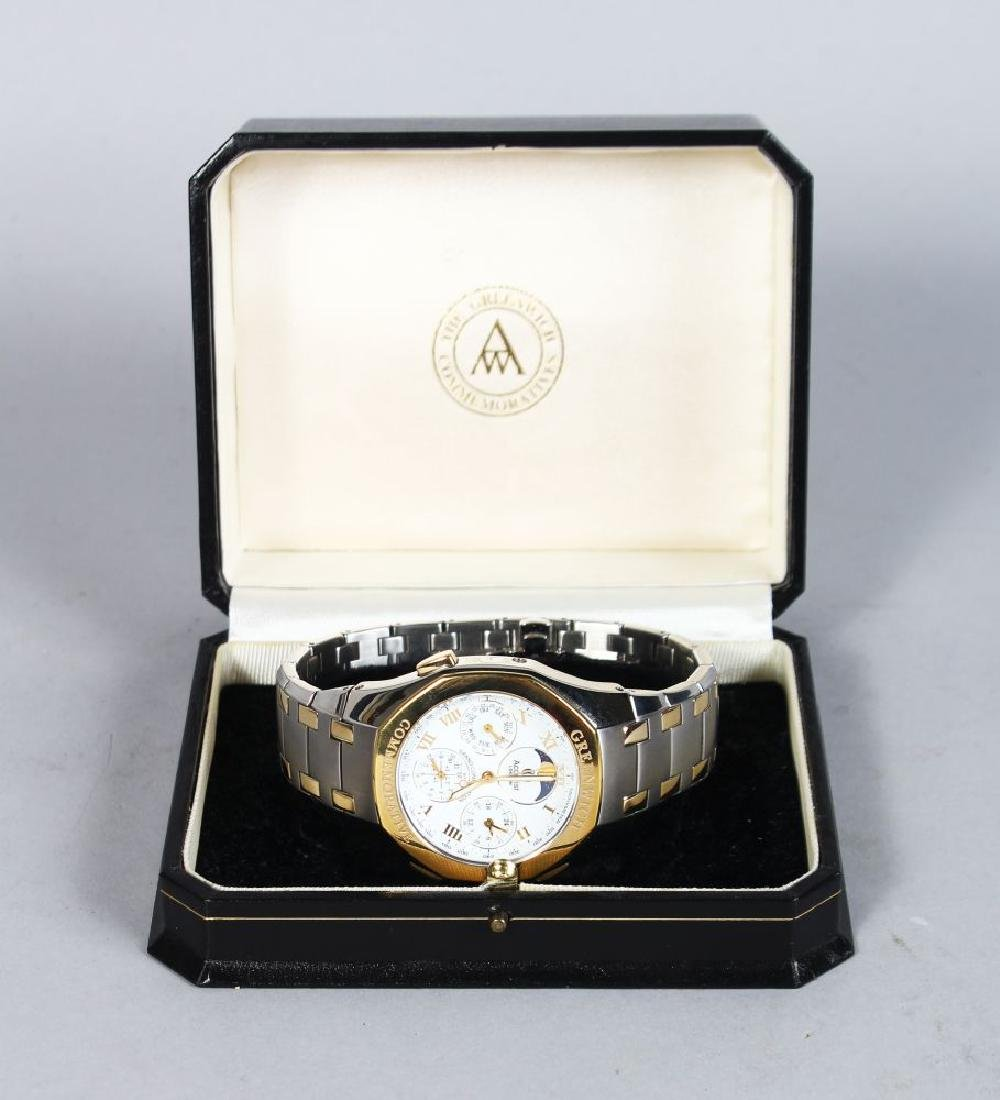 GREENWICH COMMEMORATIVE, two colour watch with metal - 2