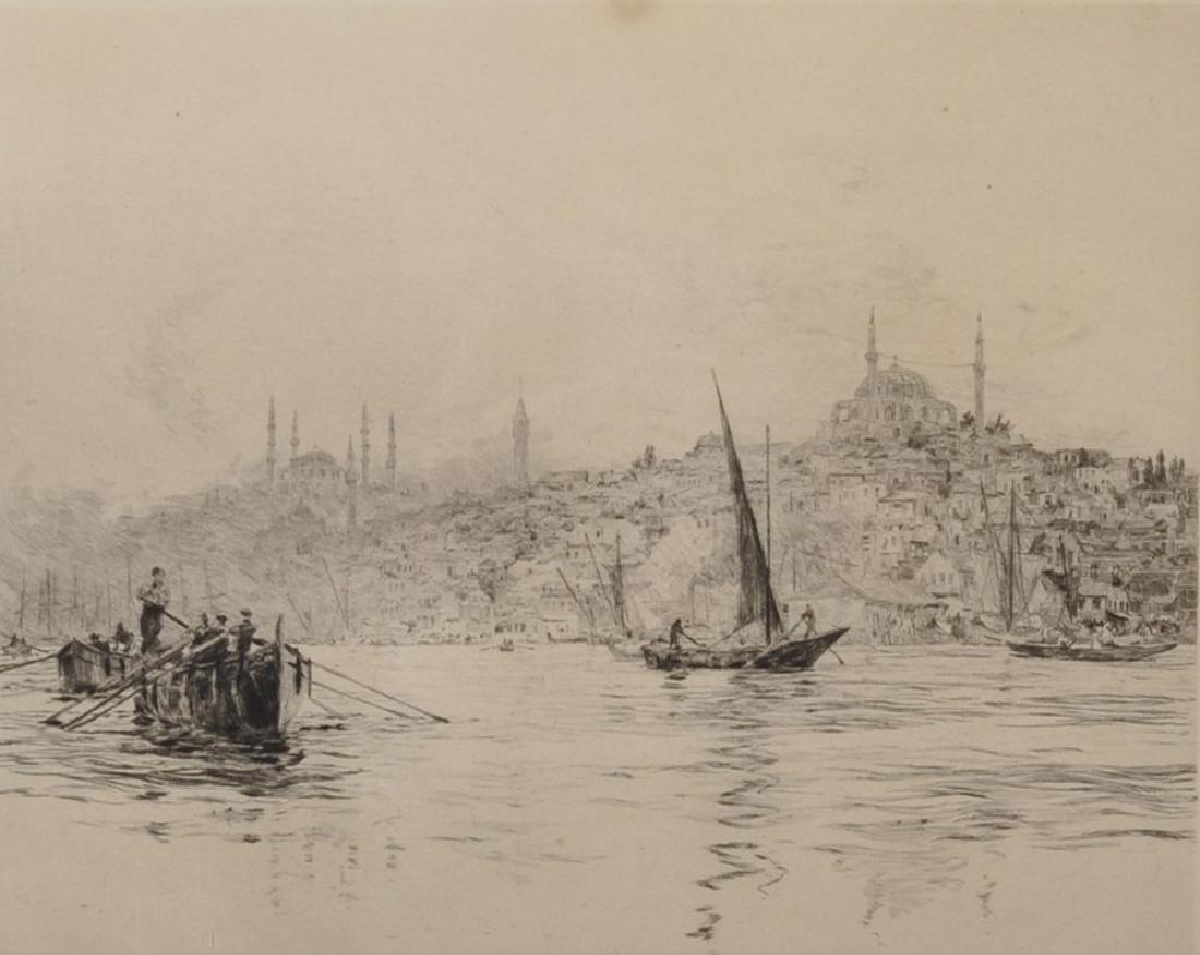 William Lionel Wyllie (1851-1931) British. View of the