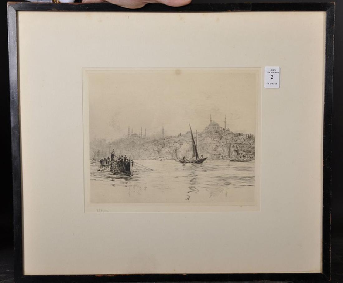 William Lionel Wyllie (1851-1931) British. View of the - 2