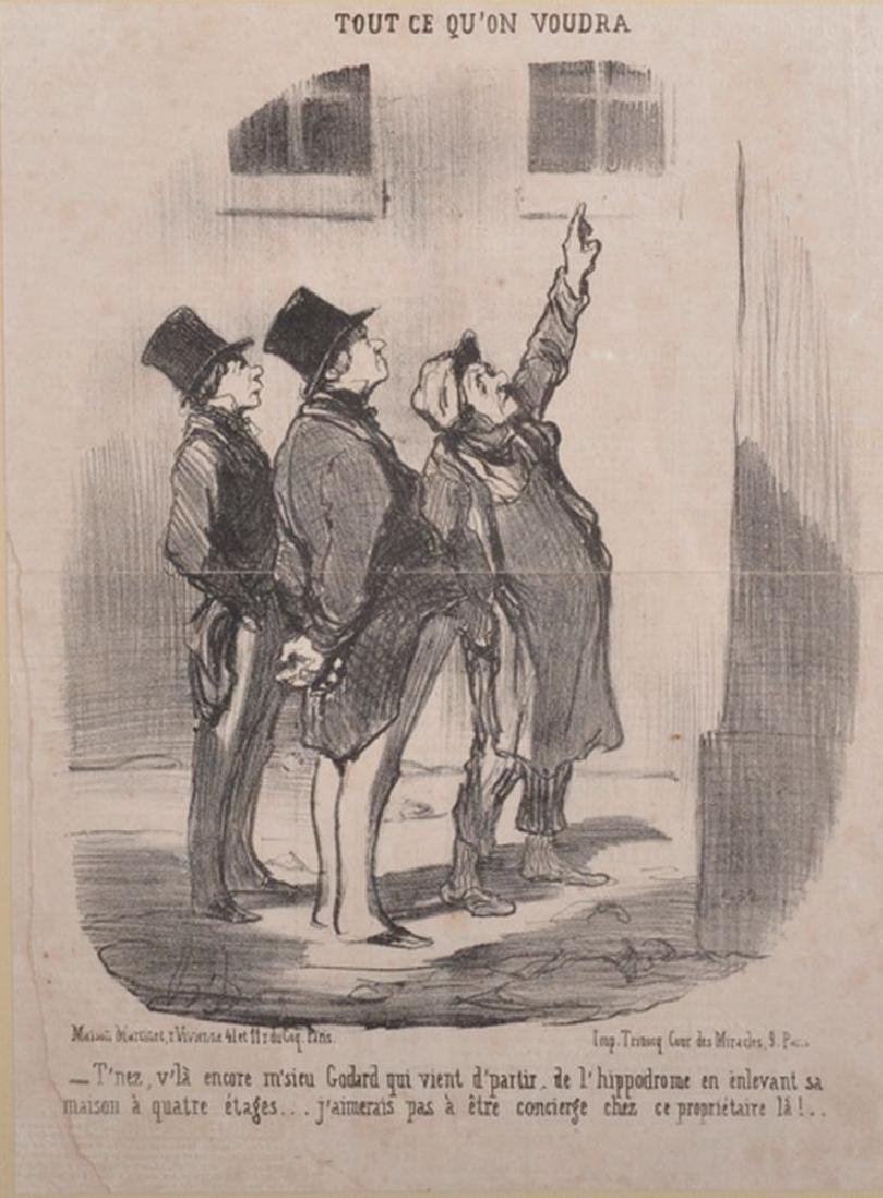 "After Honore Daumier (1808-1879) French. ""Tout Ce Qu'on"