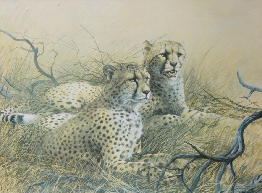 Spencer Roberts (1920-1997) British. Cheetahs Resting