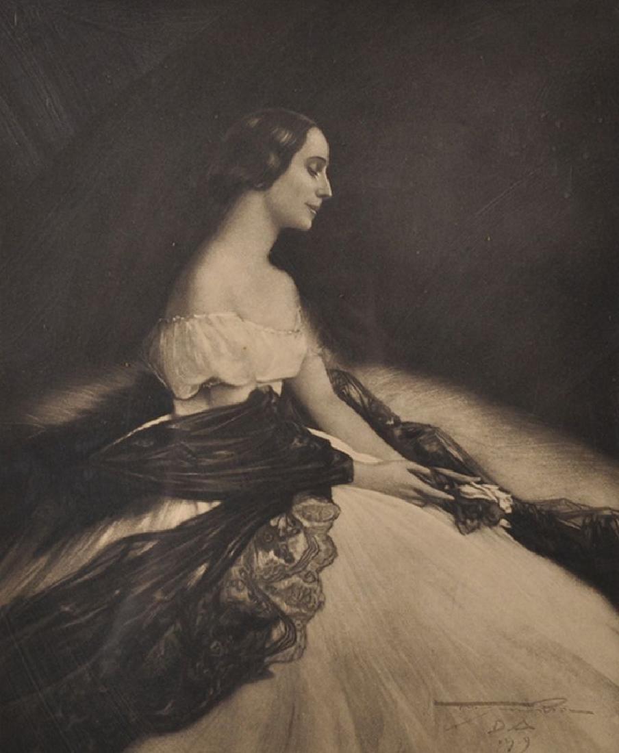 Frans van Riel (1879-1951) French. Portrait of Anna