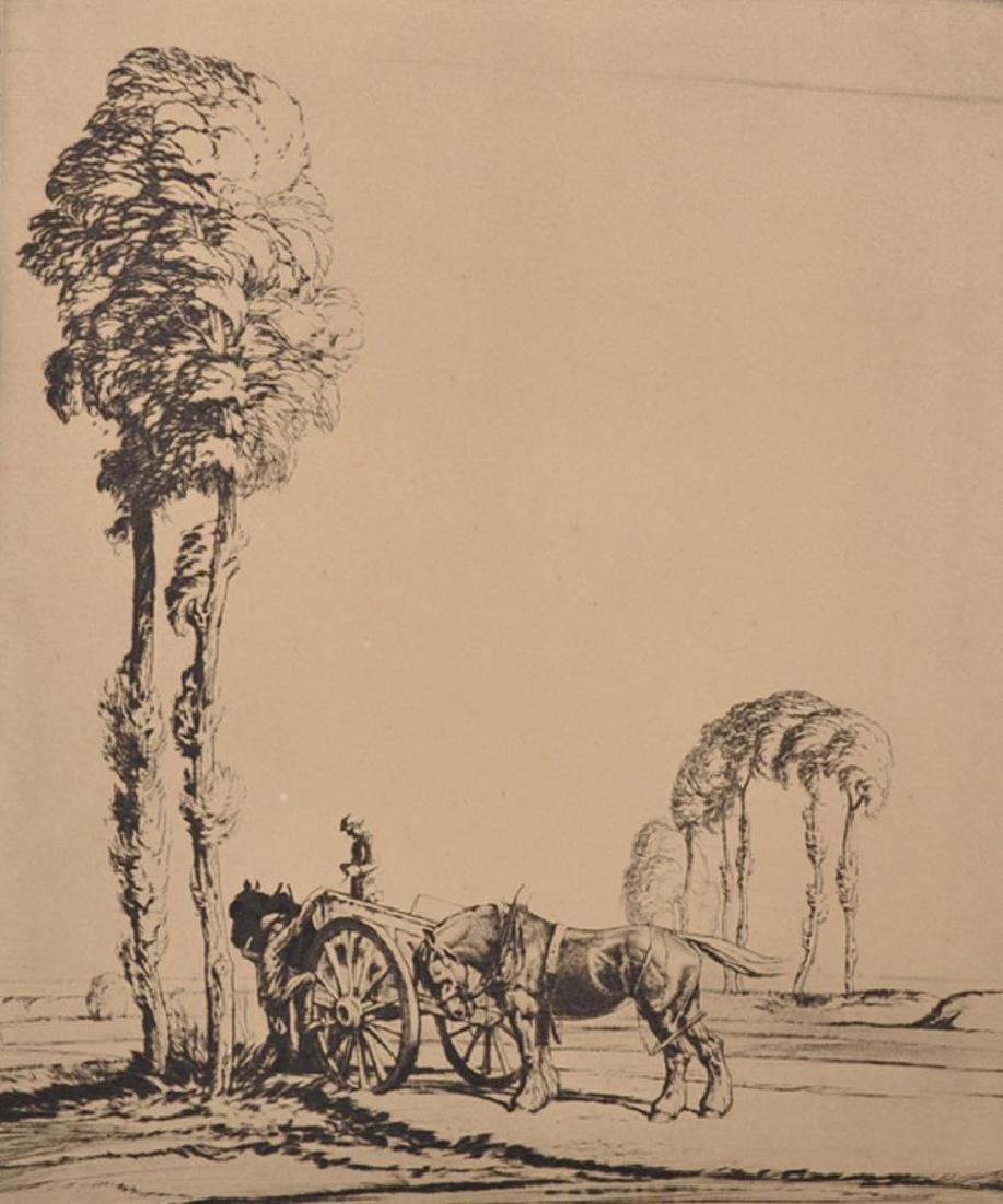 """Ernest Herbert Whydale (1886-1952) British. """"Eventide"""","""