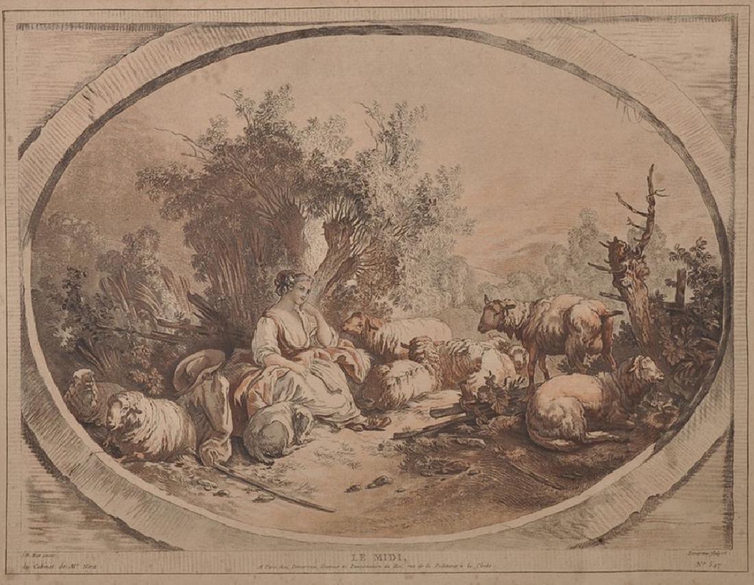 "After Jean-Baptiste Huet (1745-1811) French. ""Le Midi"","