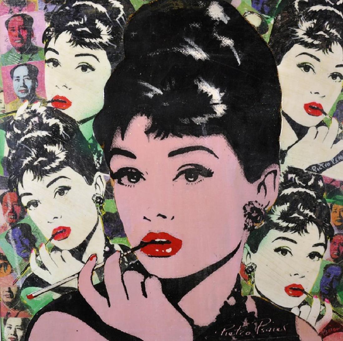 Pietro Psaier (1936-2004) Italian. 'Audrey Hepburn,