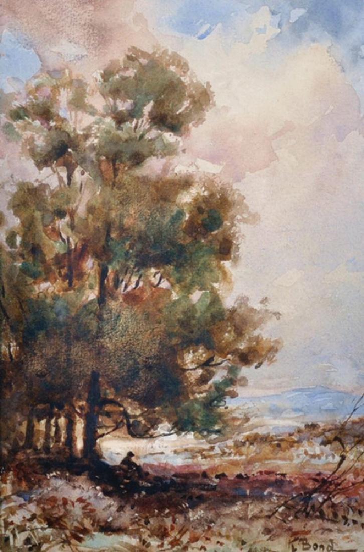 K... Bond (19th - 20th Century) British. A Landscape,