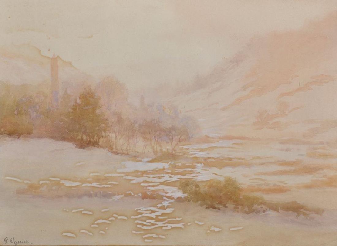 Gladys Wynne (1876-1968) Irish. A River Landscape,