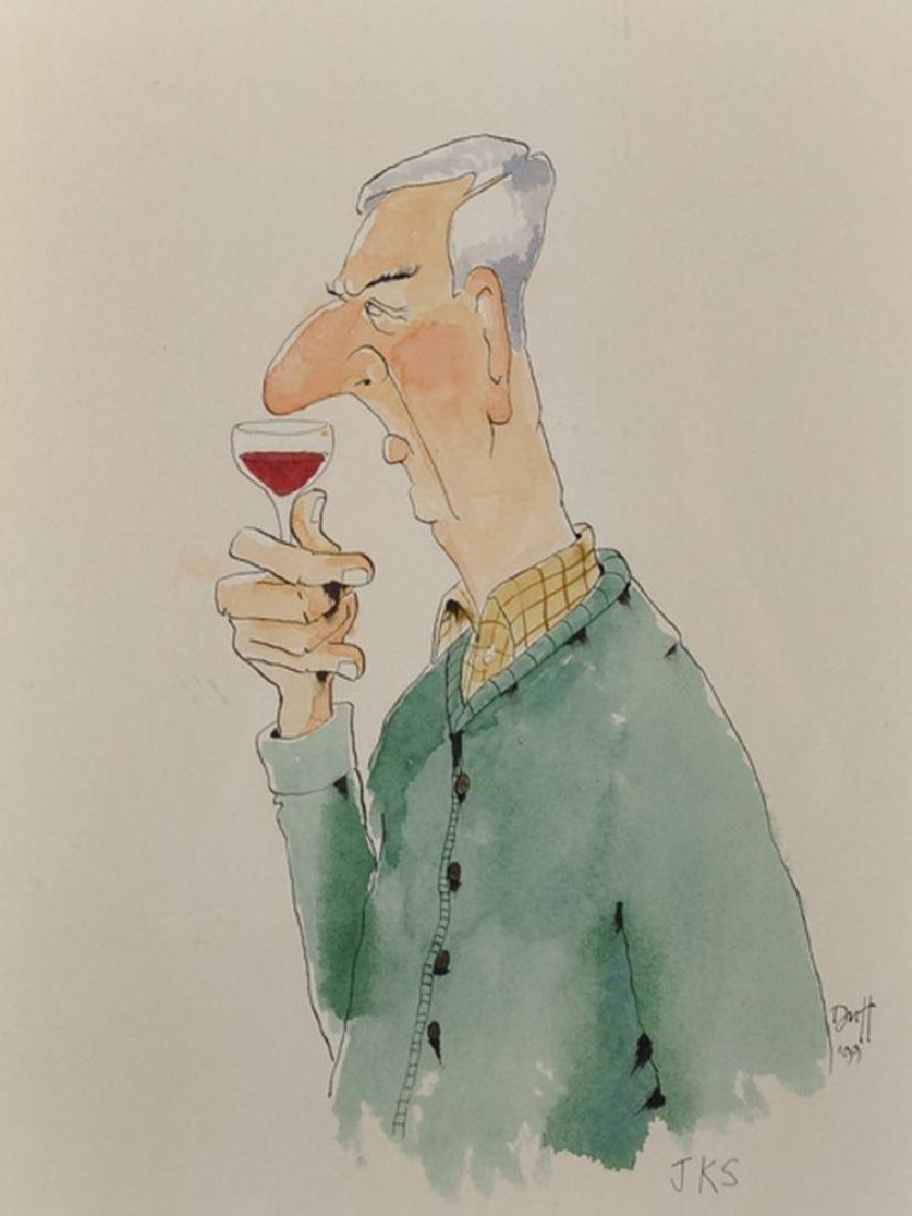 Duff (20th Century) British. 'Nosing', Caricature of a