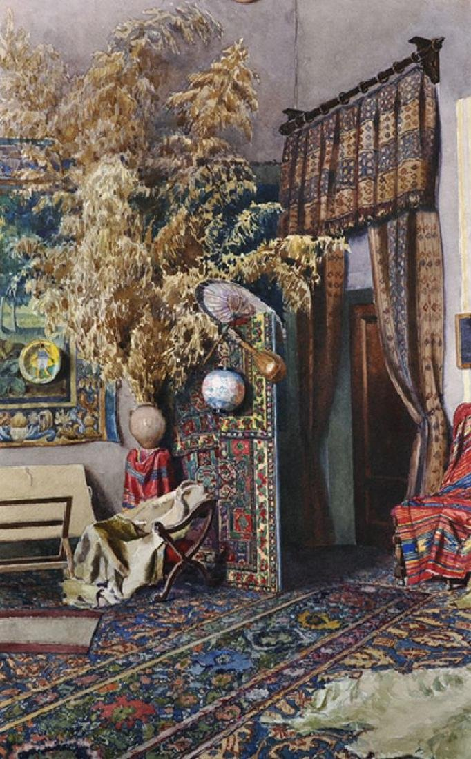 Early 20th Century English School. Interior of an