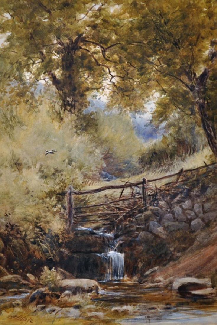 John Henry Mole (1814-1886) British. A River Landscape