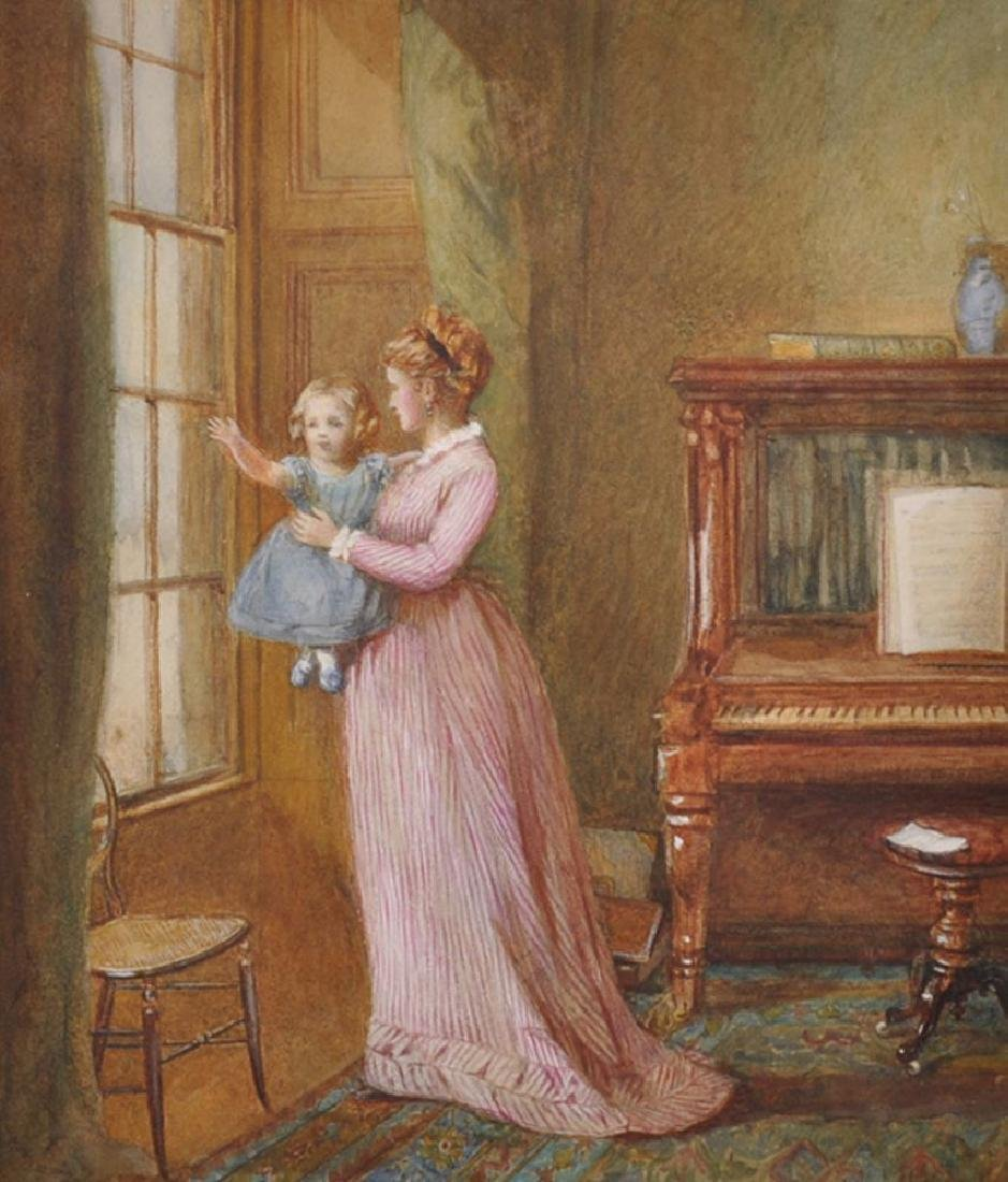 Late 19th Century English School. A Mother Holding a