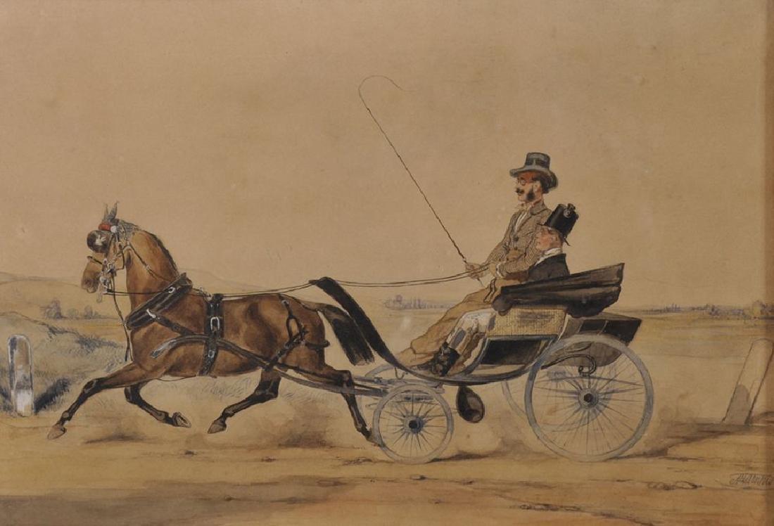 Anton Zampis (1820-1883) Austrian. Figures in a Horse