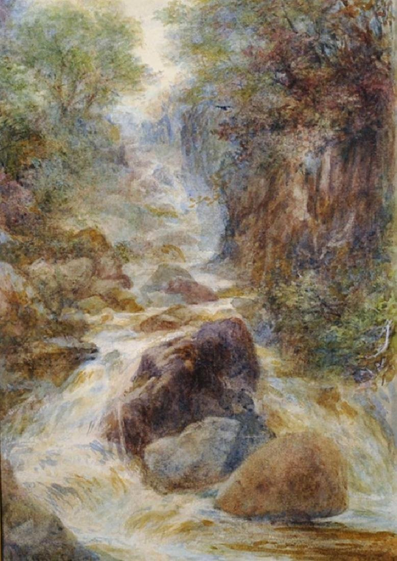 19th Century English School. A River Landscape with a