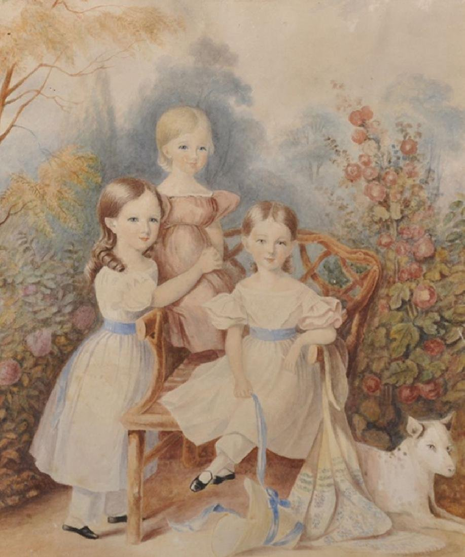 J... Perry (19th Century) British. Three Young Girls