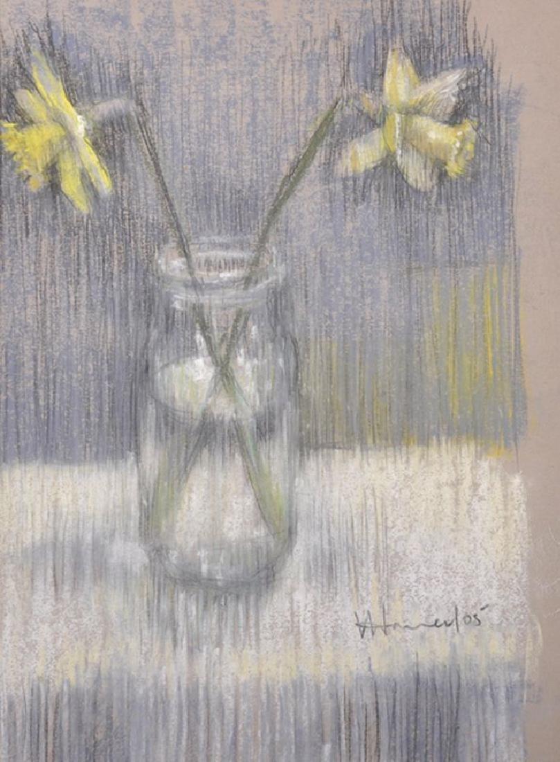 "Val Hamer (20th - 21st Century) British. ""Daffodils 1"","