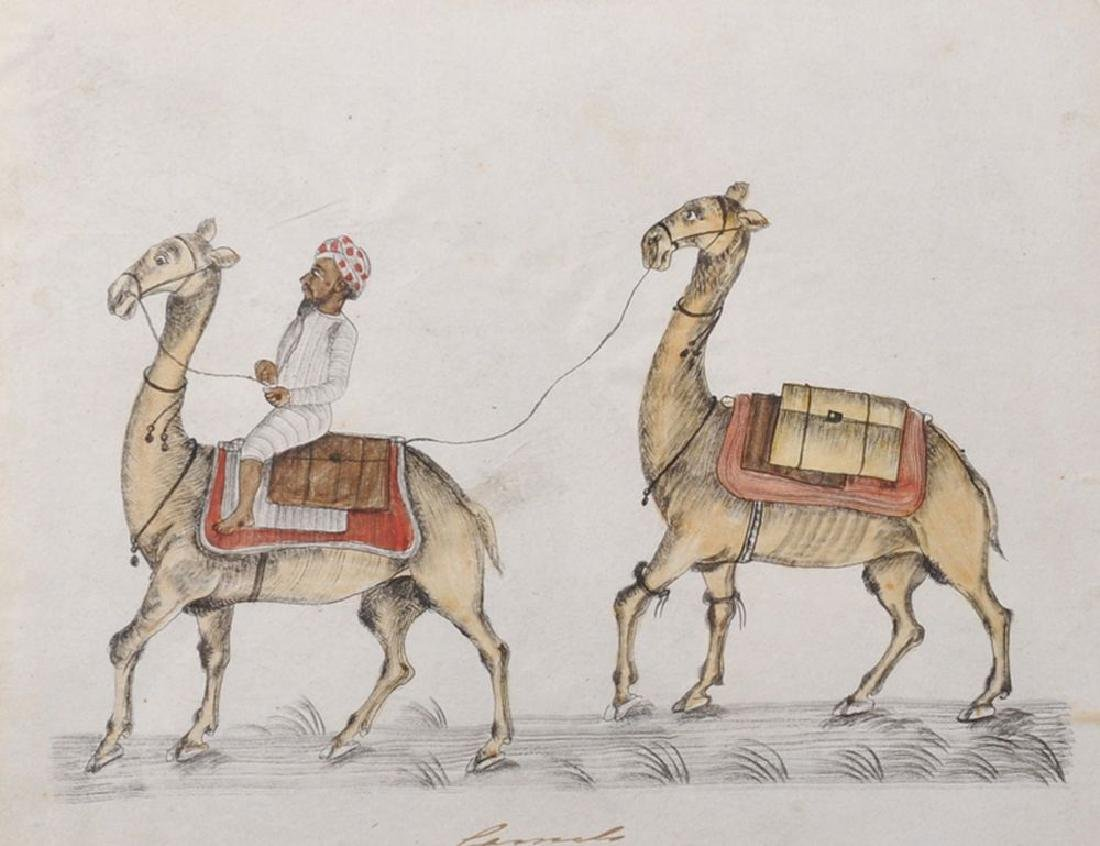 "20th Century Indian School. ""Camels"", an Indian with"
