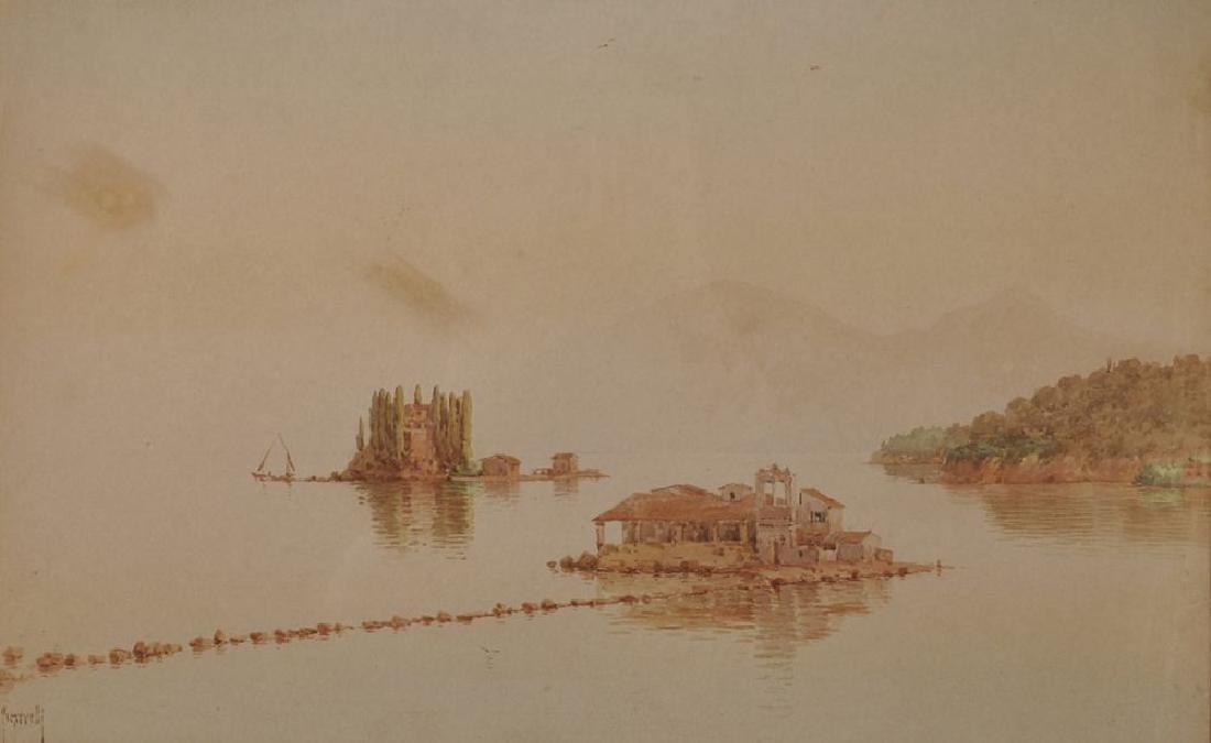 Spyridon Scarvelli (1868-1942) Greek. Small Islands off
