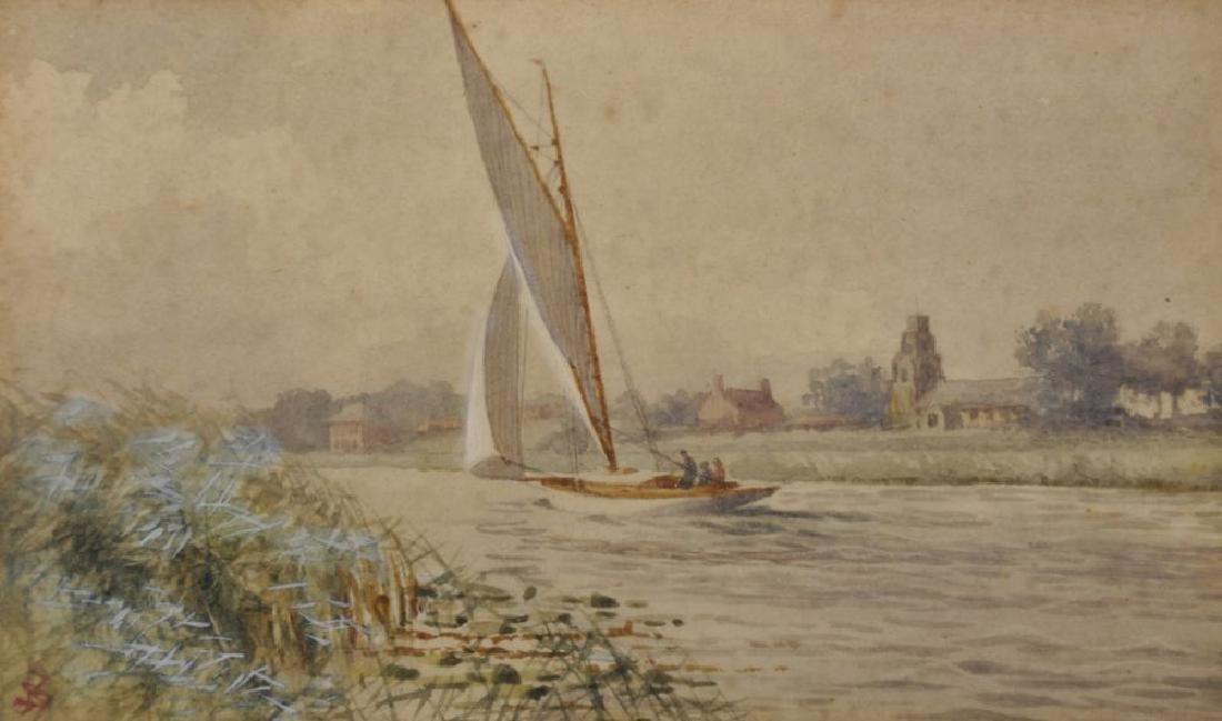 Stephen John Batchelder (1849-1932) British. Sailing on