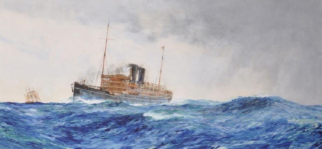 "Charles Edward Dixon (1872-1934) British. ""Across the"