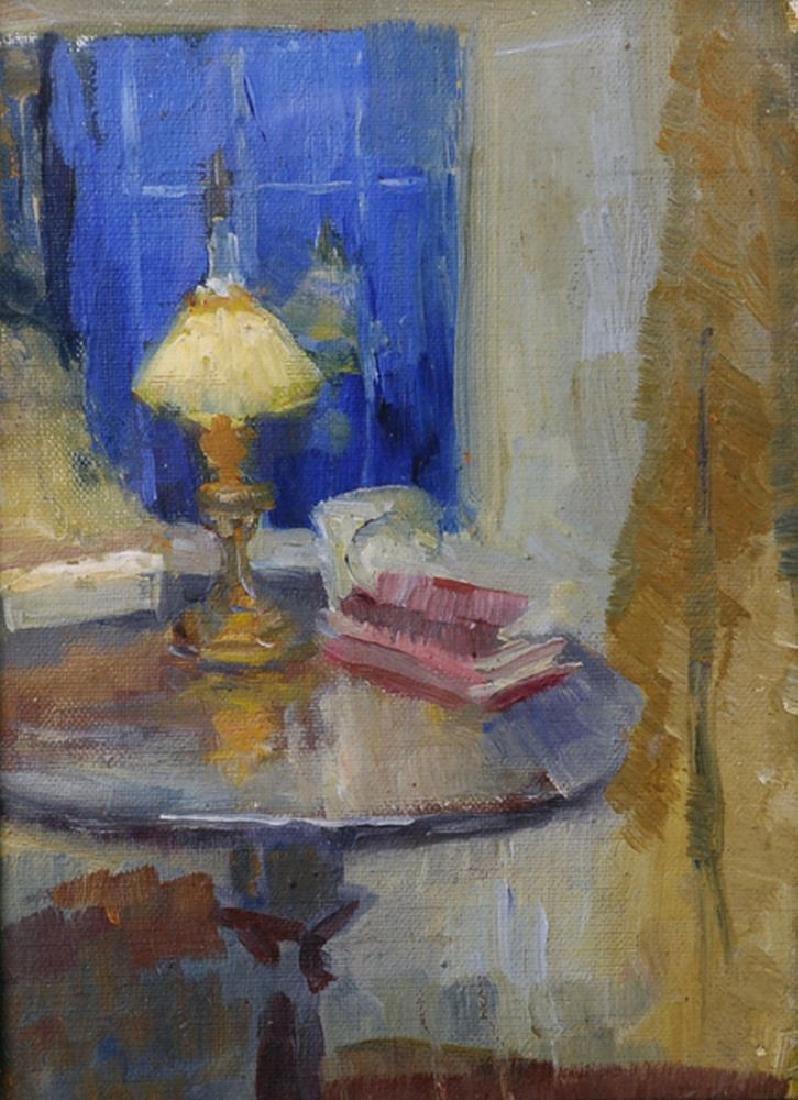 20th Century Scottish School. Interior Scene with a