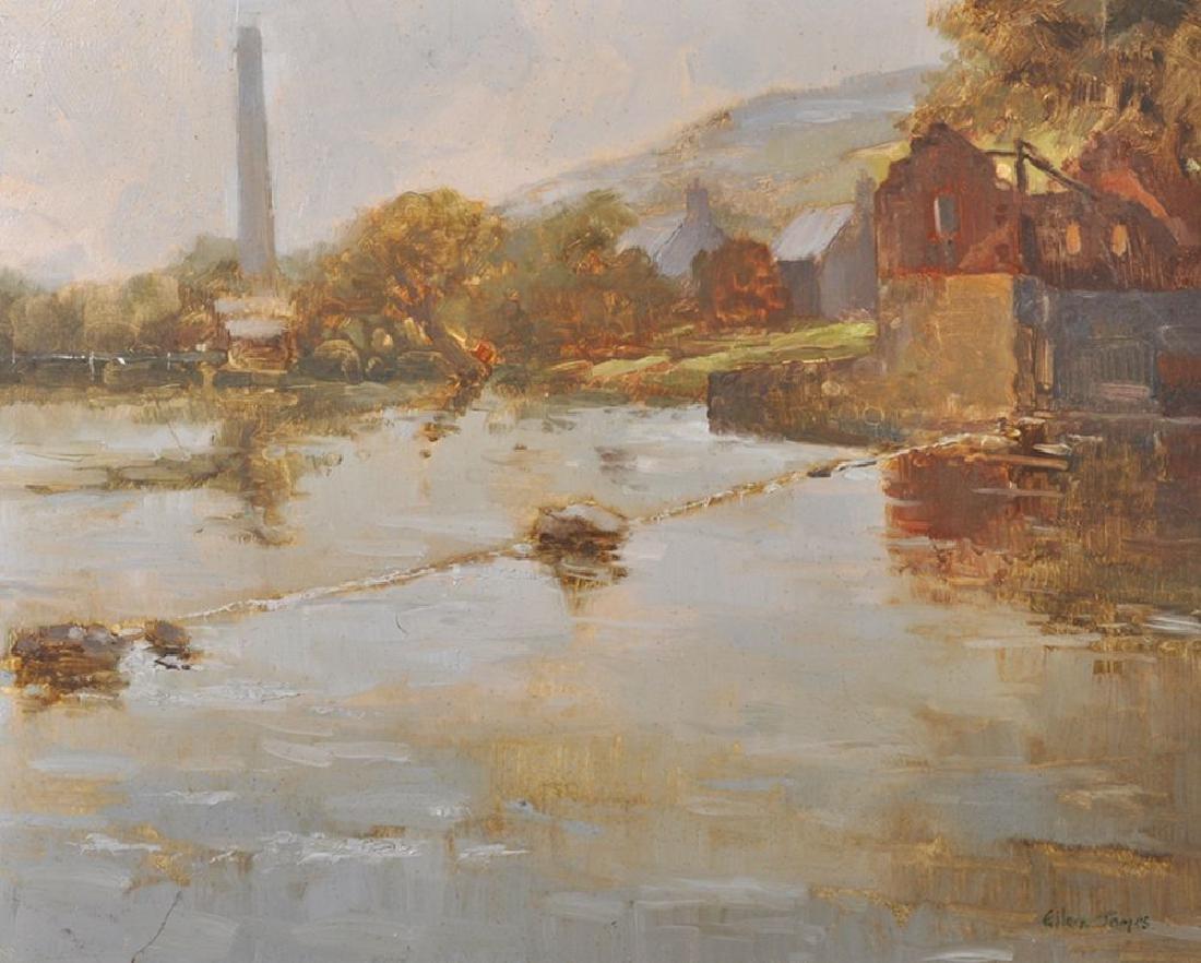Eileen James (20th Century) British. A River Landscape