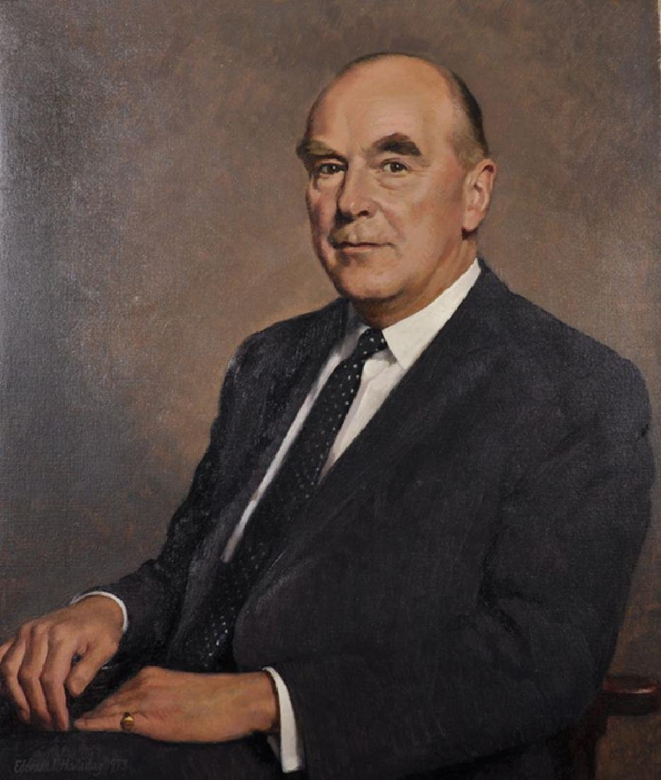 Edward Irvine Halliday (1902-1984) British. Portrait of