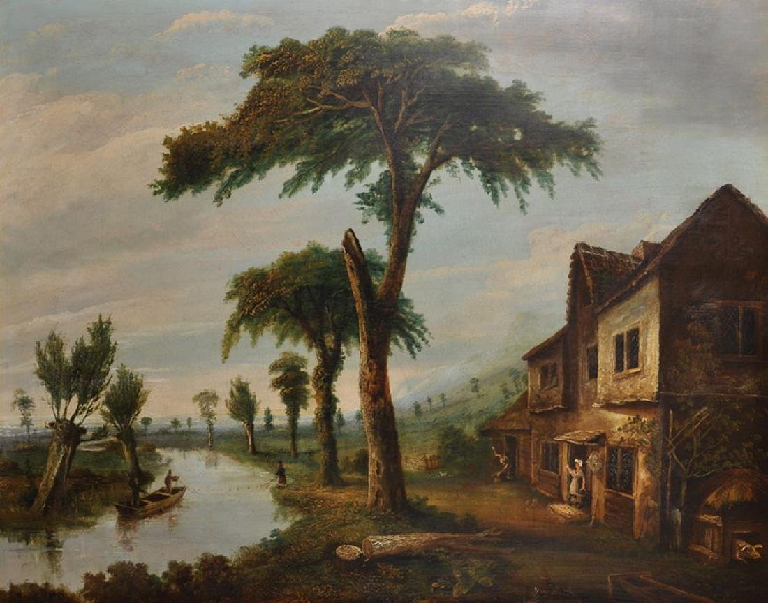 Late 18th Century European School. A River Landscape