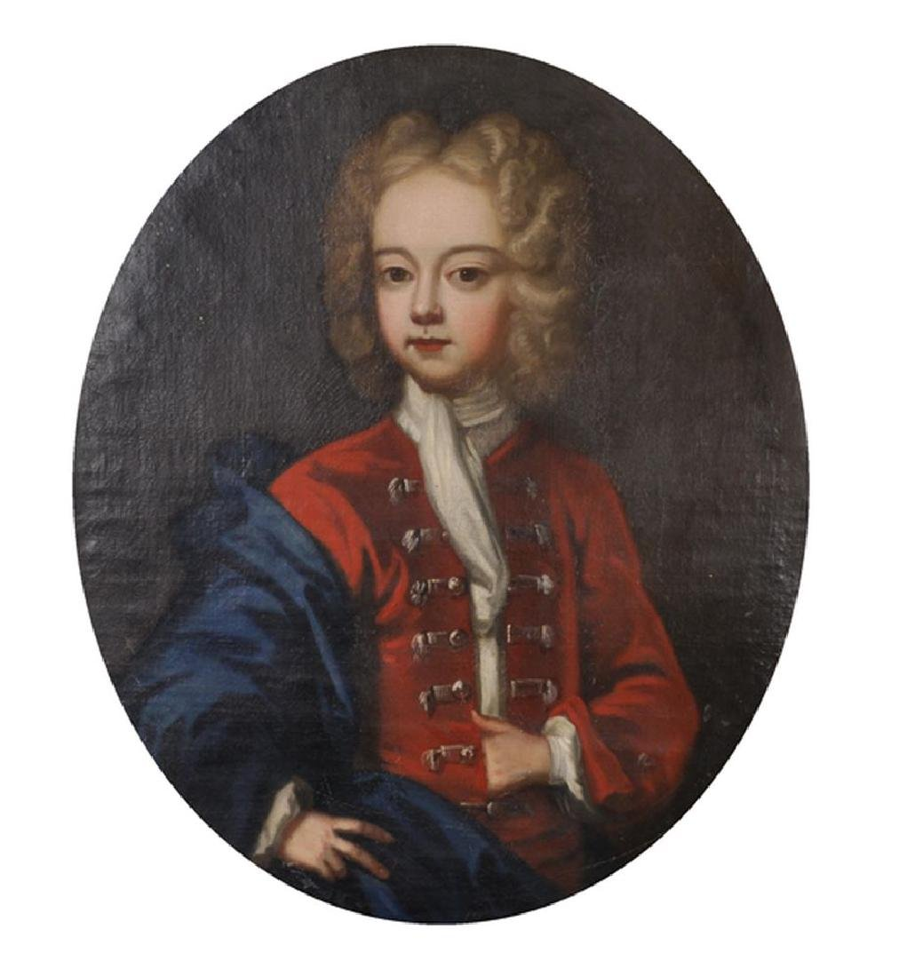 18th Century English School. Portrait of a Boy in a