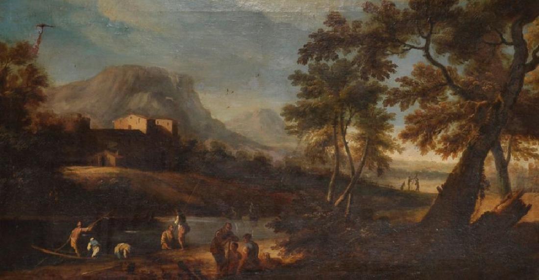 18th Century Italian School.  A Classical River