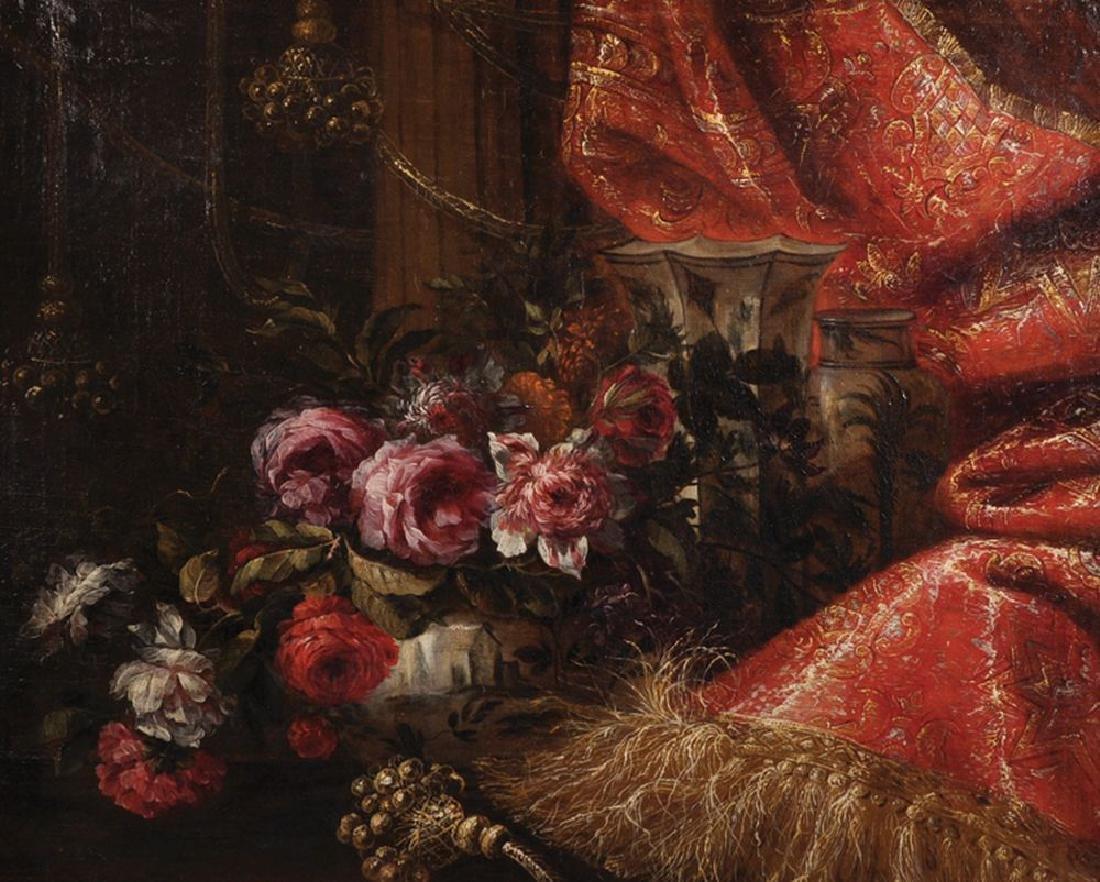 18th Century Italian School. Still Life of Flowers in a