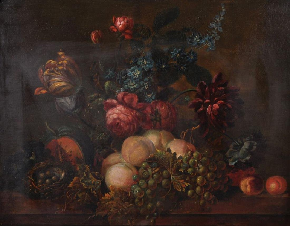 19th Century European School. Still Life of Fruit and