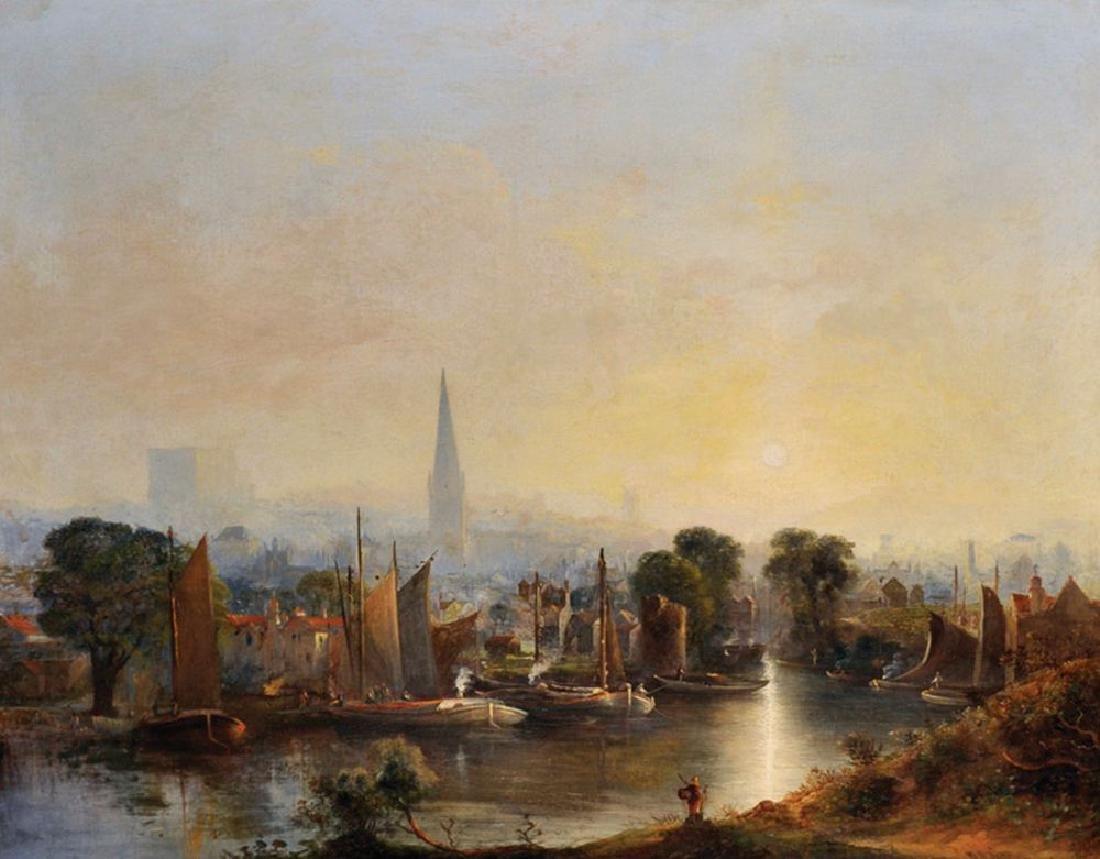 """William Henry Crome (1806-1873) British. """"View of"""
