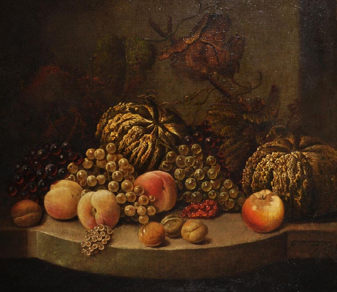 19th Century European School. Still Life of Fruit on a
