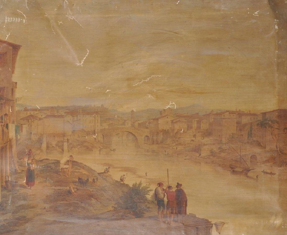 19th Century Italian School. An Italian River Landscape