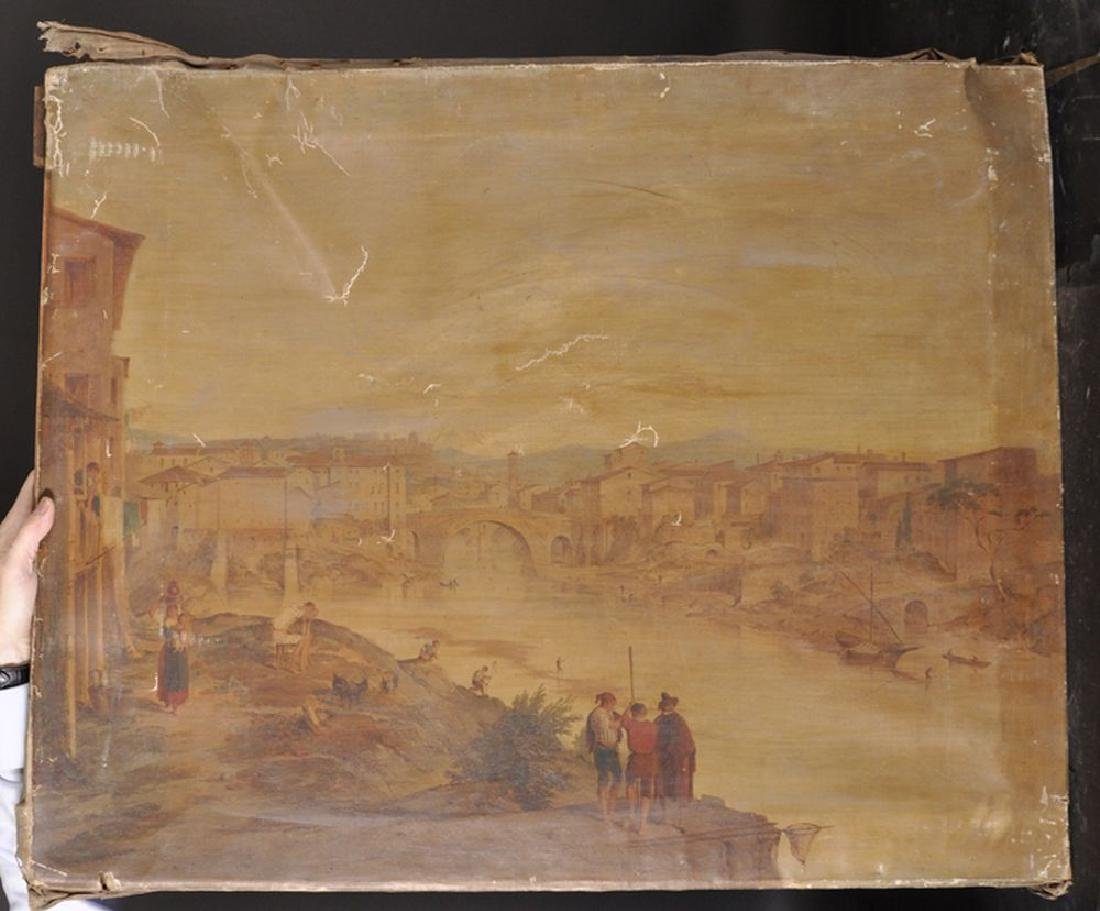 19th Century Italian School. An Italian River Landscape - 2