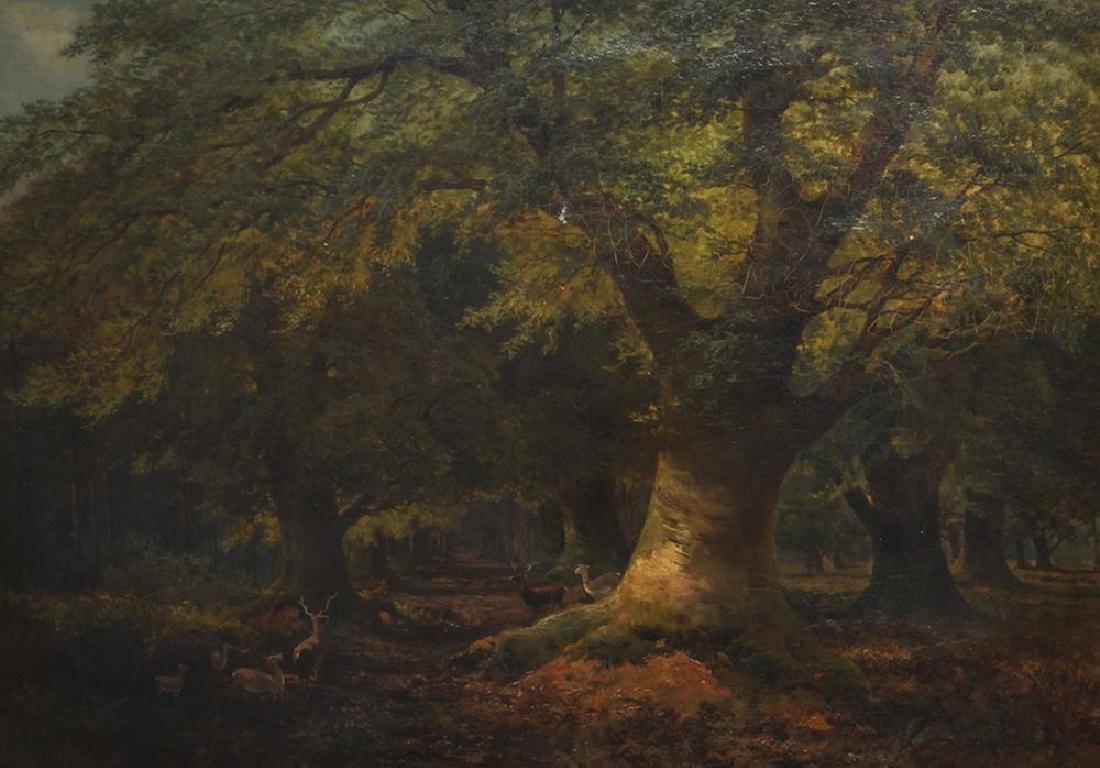 """John MacWhirter (1839-1911) British. """"Burnham Beeches,"""