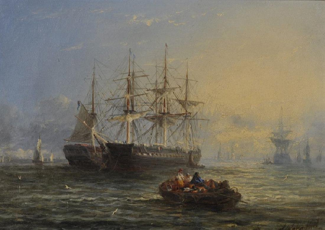 William Adolphus Knell (1805-1875) British.  Man O' War