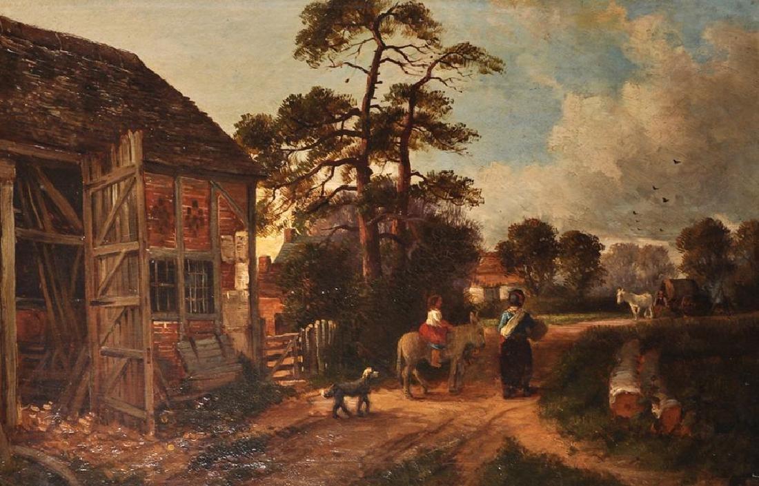"John Joseph Hughes (c.1827-1909) British. ""An Old Barn"